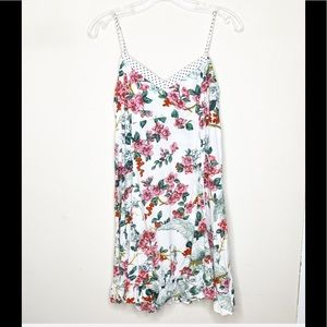 Anthropologie XS White Floral Dress